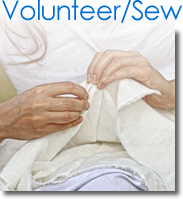 Volunteer to Sew With Tiny Stitches