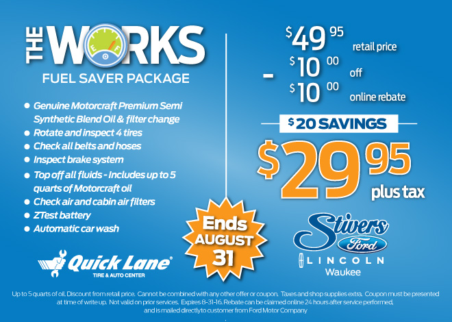 Stivers Ford Lincoln Coupons Stiversfordiacoupons Com