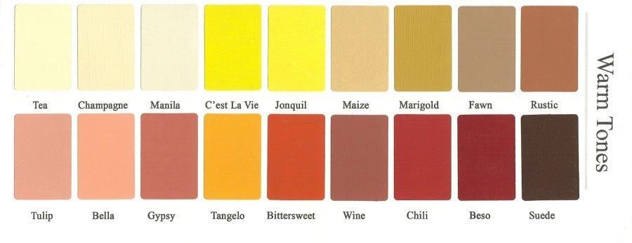 Delightful Vintage Market And Design Color Chart