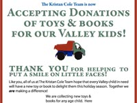 The Kristan Cole Team, Toy Drive