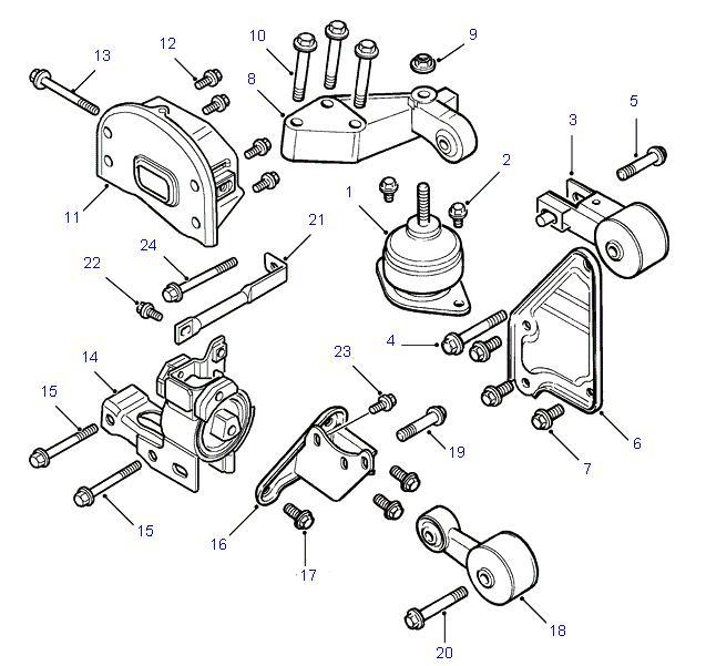 land rover parts - engine mounts