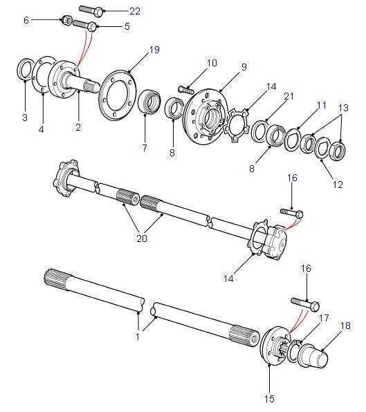 Land Rover Parts Rear Hubs Amp Driveshafts Defender