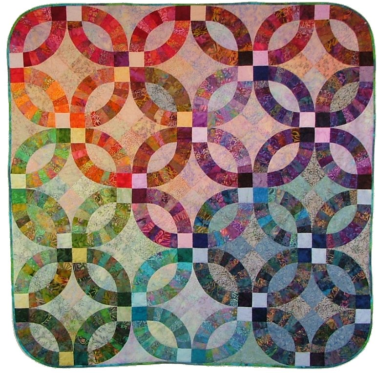 glowing wedding ring quilt fabric virginia robertson pattern applique foundation - Wedding Ring Quilt Pattern