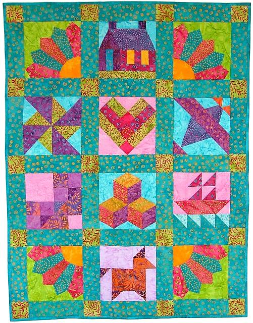 Kids quilt pattern the image kid has it for Kids pattern fabric