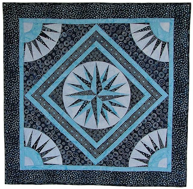Quilting Patterns Mariner S Compass : quilt, fabric, virginia robertson, pattern, applique, foundation piecing, paper piecing, color ...
