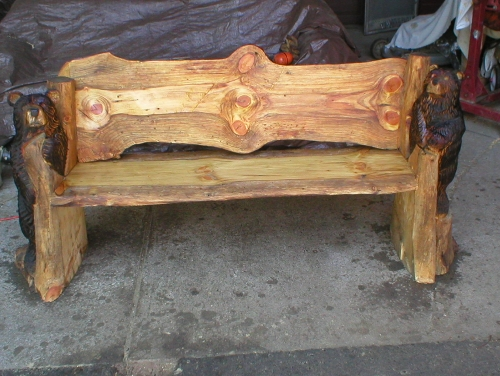 Chainsaw carved benches starting at