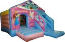 Princess bouncy castle with front slide