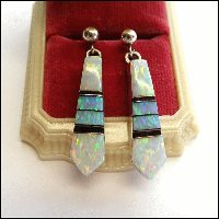 Opal Pierced Earrings