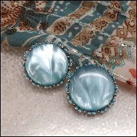 blue earrings,vintage earrings,vintage jewelry